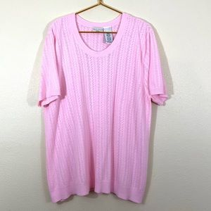 White Stag Short Sleeve Sweater Plus Size 22W-24W